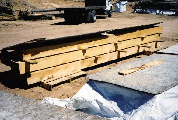 8x12x16' Rough Cut Timbers
